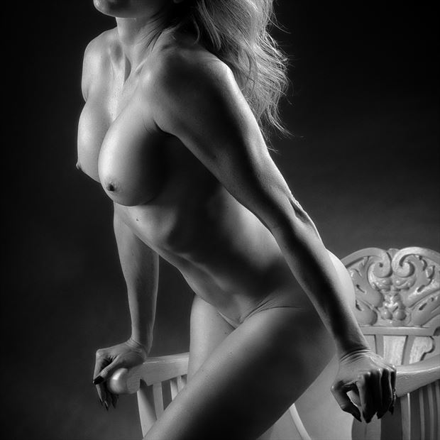 White Chair %232 Artistic Nude Photo by Photographer rick jolson