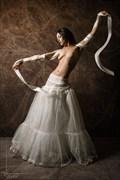 White Ribbon Artistic Nude Photo by Photographer Kestrel
