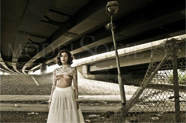 White Wedding Artistic Nude Photo by Photographer Gary Latham