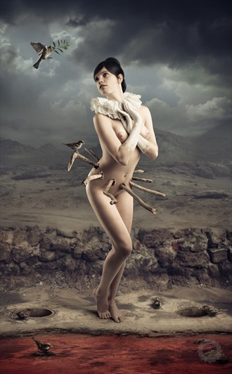 White blood Artistic Nude Artwork by Photographer RAichy