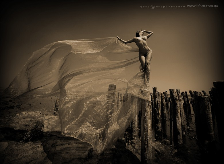 Wind Artistic Nude Artwork by Model Anomalia