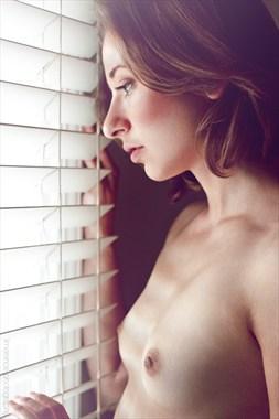Window Portrait Glamour Photo by Model Miss Anya