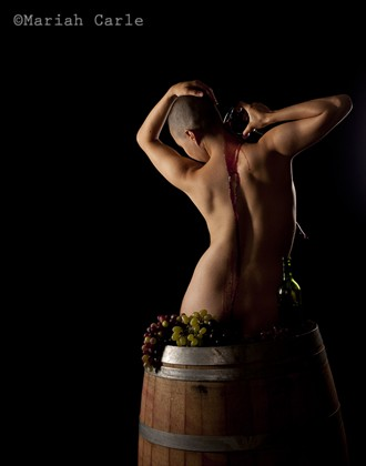 Wine & Women Artistic Nude Photo by Photographer Mariah Carle