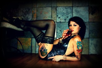 Wine Tattoos Photo by Model april.xtine