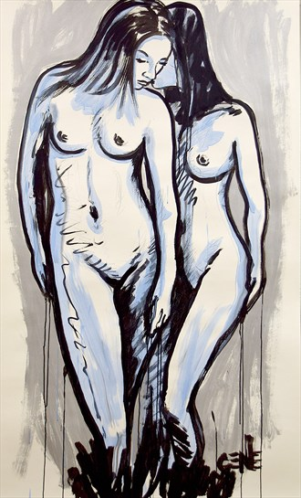 Within Her Artistic Nude Artwork by Artist artistGENE