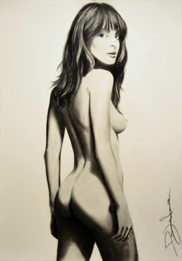 Woman Artistic Nude Artwork by Artist DML ART