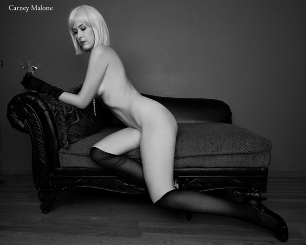 Woman on Chaise Artistic Nude Photo by Photographer Carney Malone