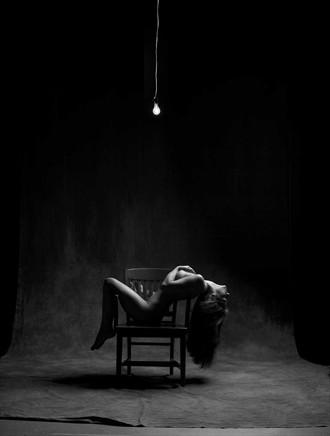 Woman with 60 watt bulb Artistic Nude Photo by Photographer Robert