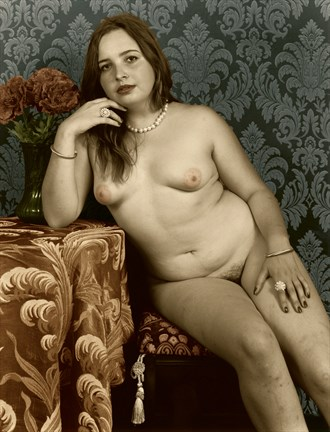 Woman with Camelias, II Artistic Nude Artwork by Photographer Michael J Berkowitz