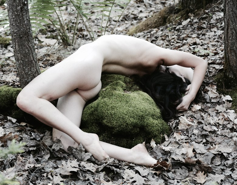 Woman with Mossy Stone Artistic Nude Photo by Photographer MSL Photography