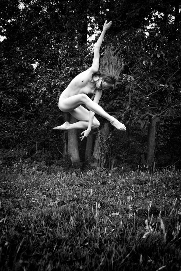 Woodland Dancing Nude Artistic Nude Photo by Photographer RayRapkerg