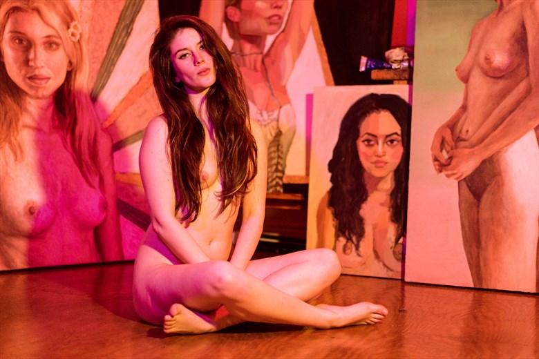 Works of Art Artistic Nude Artwork by Model Bella F.