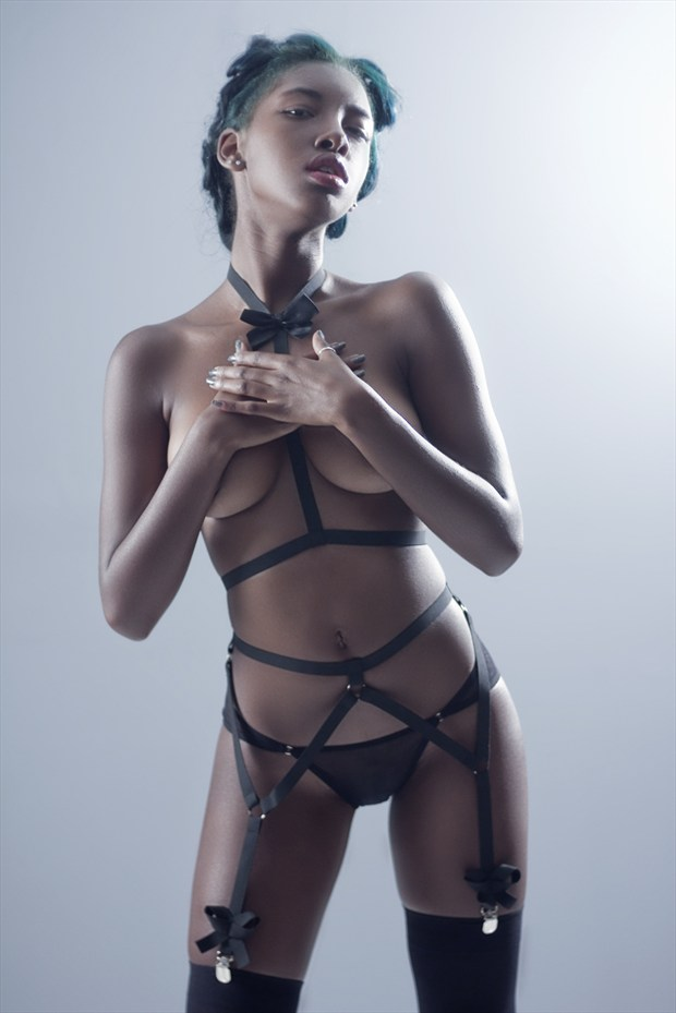 Wrapped Up With Little Bows pt. 2 Lingerie Photo by Photographer Dexellery Photo