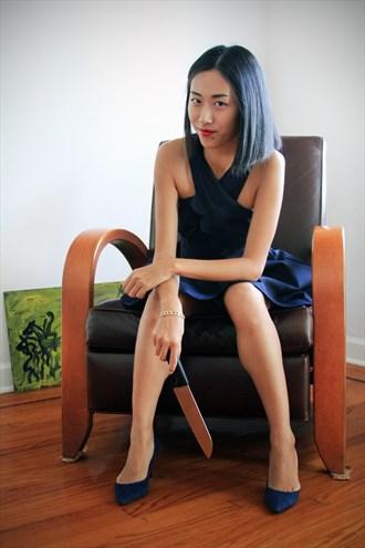 Ye Waits With Knife Fashion Photo by Photographer Andrew Hayward Smith