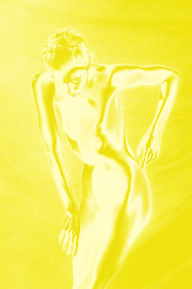 Yellow Solarization Artistic Nude Photo by Photographer Mark Bigelow