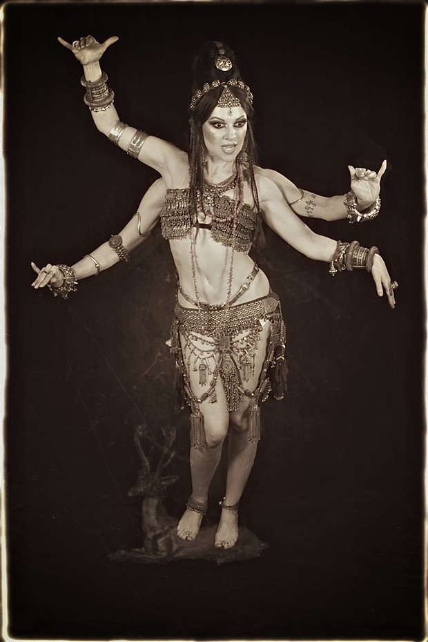 Yogini Vintage Style Photo by Photographer Scott Belding