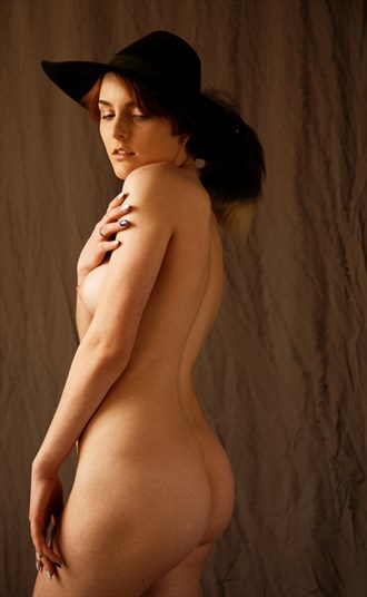 Young Woman in a Hat Artistic Nude Photo by Photographer Fred Scholpp Photo