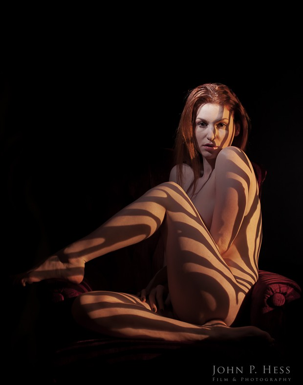 Zebra Stripes on Chair Artistic Nude Photo by Photographer JohnHess