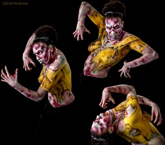 Zombie Body Painting Artwork by Model Angela Ren%C3%A9 Roberts