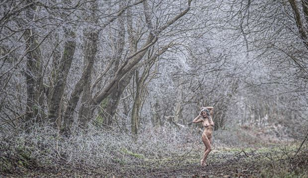 a frosty reception artistic nude photo by model helen saunders