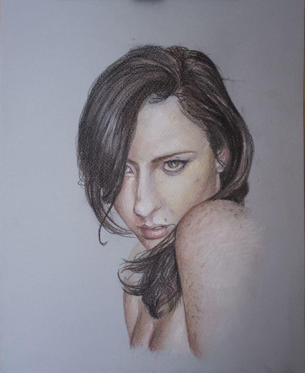 a gaze portrait artwork by artist angeil illustrations