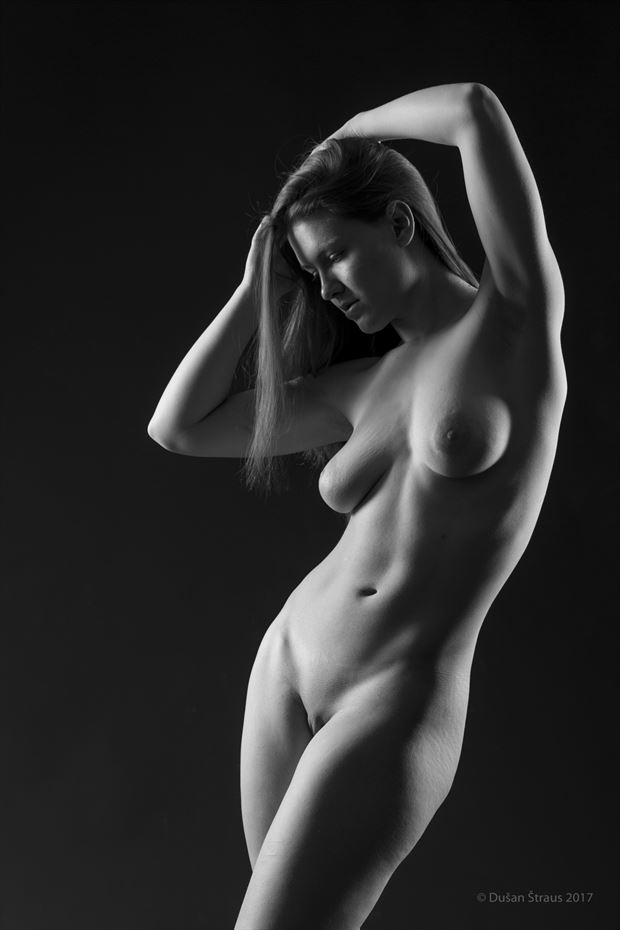 a gentle pose artistic nude artwork by photographer du%C5%A1an %C5%A1traus