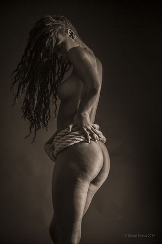 a rope artistic nude artwork by photographer du%C5%A1an %C5%A1traus