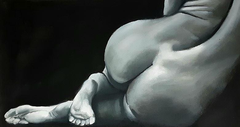 a sensual approach artistic nude artwork by artist pradip chakraborty