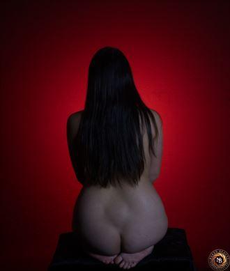 a splash of red artistic nude photo by photographer nakedbeauty