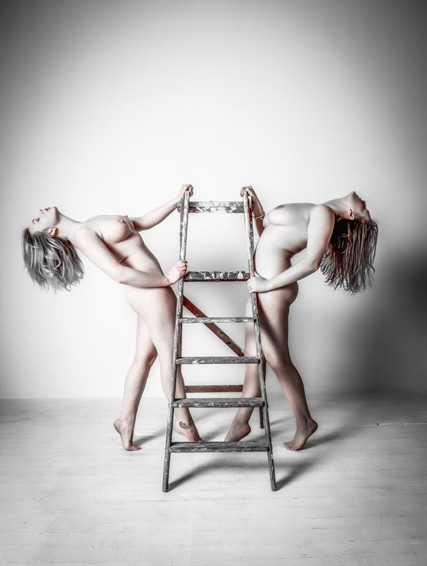 a top the ladder of success artistic nude artwork by photographer neilh