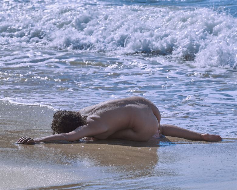 abi in the surf artistic nude photo by photographer jefflamarche