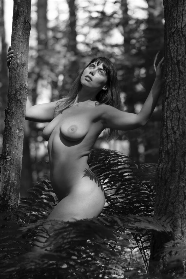 abigail in forest artistic nude photo by photographer autumnbearphoto