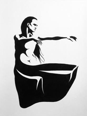 abstract chiaroscuro artwork by artist rickgordon