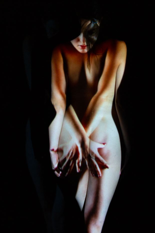 abstract projection artistic nude photo by photographer stephen wong
