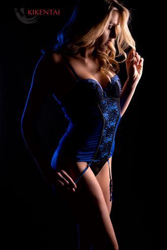 adlee ray in blue lingerie artwork by photographer kikentai photo