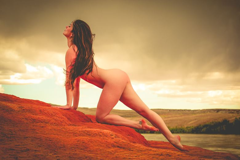 adventure with april crystal geyser artistic nude photo by artist april alston mckay