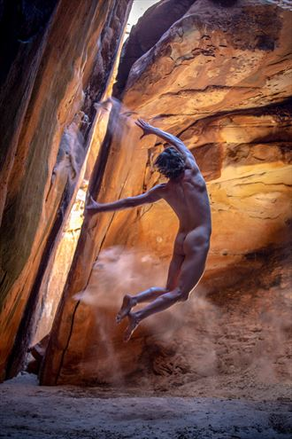 adventure with april tusher tunnel artistic nude photo by artist april alston mckay