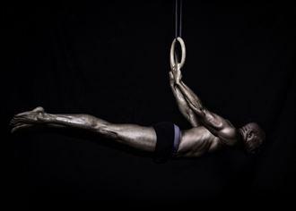 aerial gymnastics back lever studio lighting photo by model matriix