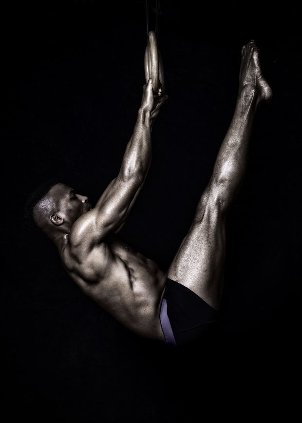 aerial gymnastics l sit studio lighting photo by model matriix
