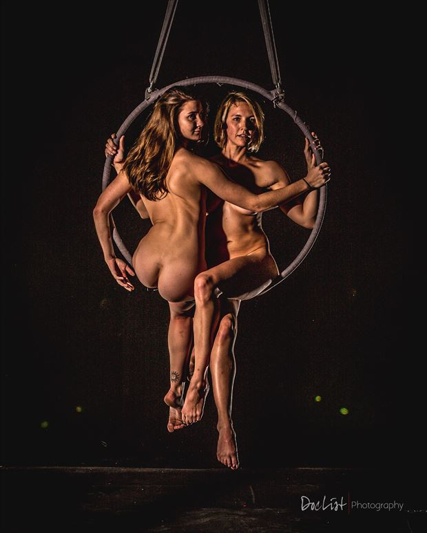 aerial togetherness artistic nude photo by photographer doclist
