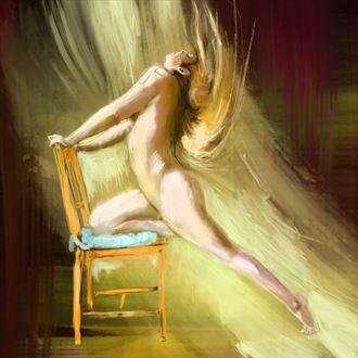affair with a chair 1 figure study artwork by artist nick kozis