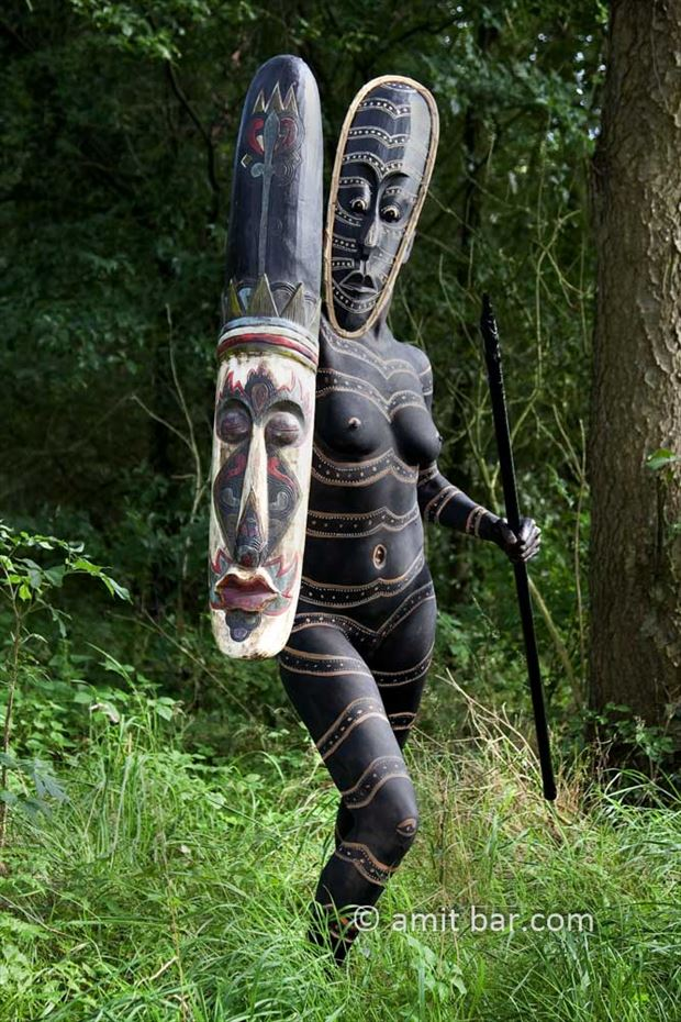 african warrior i body painting artwork by photographer bodypainter