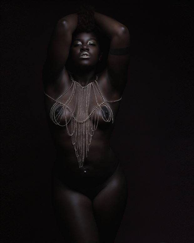 afro noir artistic nude photo by photographer charles l reeves