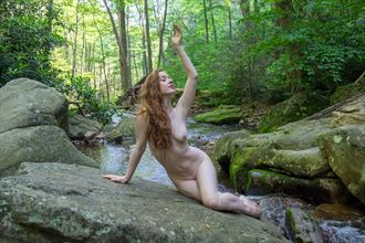 against the stream artistic nude photo by photographer candidvision