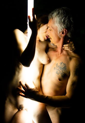 alex and dragon 2 artistic nude photo by artist freddie graves