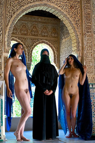 alhambra trio artistic nude photo by photographer philip young