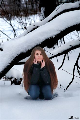 alina in snow nature photo by photographer zmiterr