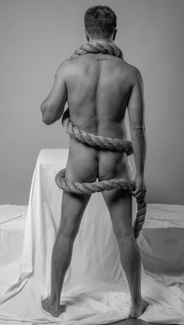 all tied up artistic nude photo by photographer gpstack