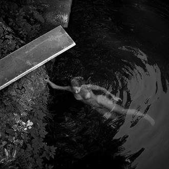 allie and the rock pool hamilton ma 1996 artistic nude photo by photographer scott ryder