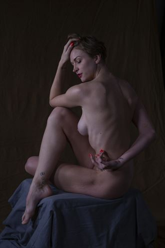 allie artistic nude artwork by photographer domingo medina
